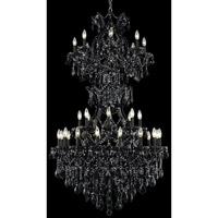 Elegant Lighting Maria Theresa 34 Light Foyer in Black with Swarovski Strass Jet Black Crystal 2800D36SB/SS