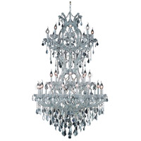 Elegant Lighting Maria Theresa 34 Light Foyer in Silver and Clear Mirror with Swarovski Strass Clear Crystal 2800D36SC/SS