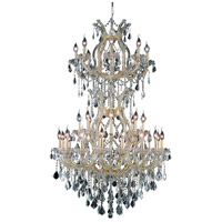 Elegant Lighting Maria Theresa 34 Light Foyer in Gold with Swarovski Strass Clear Crystal 2800D36SG/SS