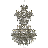 Elegant Lighting Maria Theresa 34 Light Foyer in Golden Teak with Swarovski Strass Golden Teak Crystal 2800D36SGT-GT/SS
