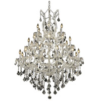 Elegant Lighting Maria Theresa 28 Light Foyer in Chrome with Swarovski Strass Clear Crystal 2800D38C/SS
