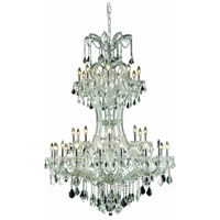 Elegant Lighting Maria Theresa 36 Light Foyer in Chrome with Elegant Cut Clear Crystal 2800D46C/EC
