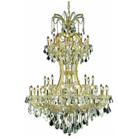 Elegant Lighting Maria Theresa 36 Light Foyer in Gold with Elegant Cut Clear Crystal 2800D46G/EC