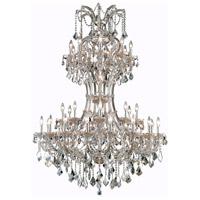Elegant Lighting 2800D46GT-GT/RC Maria Theresa 36 Light 46 inch Golden Teak Foyer Ceiling Light in Royal Cut