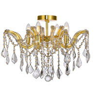 Elegant Lighting 2800F18G/SA Maria Theresa 4 Light 18 inch Gold Flush Mount Ceiling Light in Spectra Swarovski