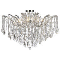 Elegant Lighting 2800F36C/RC Maria Theresa 8 Light 36 inch Chrome Flush Mount Ceiling Light in Royal Cut