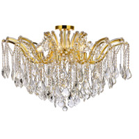 Maria Theresa 8 Light 36 inch Gold Flush Mount Ceiling Light