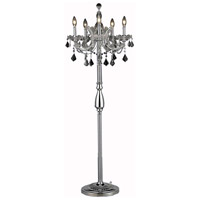 Elegant Lighting Maria Theresa 5 Light Floor Lamp in Chrome with Swarovski Strass Clear Crystal 2800FL19C/SS