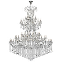 Elegant Lighting 2800G120C/RC Maria Theresa 84 Light 96 inch Chrome Chandelier Ceiling Light