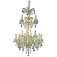Elegant Lighting Maria Theresa 24 Light Foyer in Gold with Elegant Cut Clear Crystal 2800G32G/EC