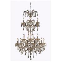 Elegant Lighting 2800G32GT-GT/RC Maria Theresa 24 Light 32 inch Golden Teak Foyer Ceiling Light in Royal Cut