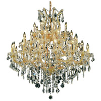 Elegant Lighting Maria Theresa 37 Light Foyer in Gold with Elegant Cut Clear Crystal 2800G44G/EC