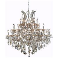 Elegant Lighting 2800G44GT-GT/RC Maria Theresa 37 Light 44 inch Golden Teak Foyer Ceiling Light in Royal Cut