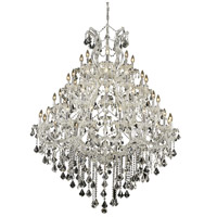 Elegant Lighting Maria Theresa 49 Light Foyer in Chrome with Elegant Cut Clear Crystal 2800G46C/EC