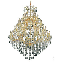 Elegant Lighting Maria Theresa 49 Light Foyer in Gold with Swarovski Strass Clear Crystal 2800G46G/SS