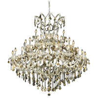 Elegant Lighting Maria Theresa 41 Light Foyer in Chrome with Royal Cut Golden Teak Crystal 2800G52C-GT/RC