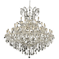 Elegant Lighting Maria Theresa 41 Light Foyer in Chrome with Elegant Cut Clear Crystal 2800G52C/EC