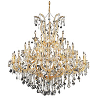 Elegant Lighting Maria Theresa 41 Light Foyer in Gold with Elegant Cut Clear Crystal 2800G52G/EC