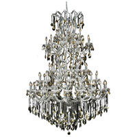 Elegant Lighting Maria Theresa 61 Light Foyer in Chrome with Royal Cut Golden Teak Crystal 2800G54C-GT/RC