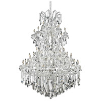 Maria Theresa 61 Light 54 inch Chrome Foyer Ceiling Light in Clear, Elegant Cut