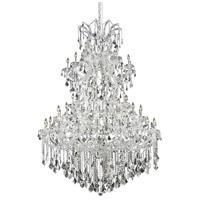 Elegant Lighting Maria Theresa 61 Light Foyer in Chrome with Royal Cut Clear Crystal 2800G54C/RC photo thumbnail