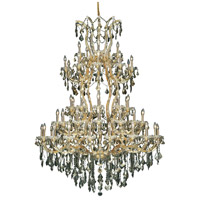 Elegant Lighting 2800G54G-GT/RC Maria Theresa 61 Light 54 inch Gold Foyer Ceiling Light in Golden Teak Royal Cut