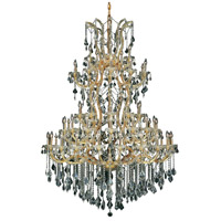 Elegant Lighting 2800G54G/SS Maria Theresa 61 Light 54 inch Gold Foyer Ceiling Light in Clear Swarovski Strass