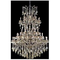Elegant Lighting 2800G54GT-GT/SS Maria Theresa 61 Light 54 inch Golden Teak Foyer Ceiling Light in Swarovski Strass