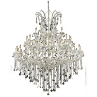 Elegant Lighting Maria Theresa 49 Light Foyer in Chrome with Elegant Cut Clear Crystal 2800G60C/EC