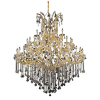 Elegant Lighting Maria Theresa 49 Light Foyer in Gold with Elegant Cut Clear Crystal 2800G60G/EC