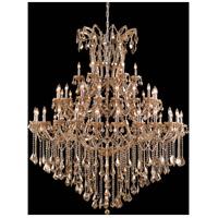Elegant Lighting 2800G60GT-GT/RC Maria Theresa 49 Light 60 inch Golden Teak Foyer Ceiling Light in Royal Cut