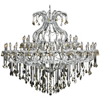 Elegant Lighting Maria Theresa 49 Light Foyer in Chrome with Royal Cut Golden Teak Crystal 2800G72C-GT/RC