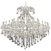 Elegant Lighting Maria Theresa 49 Light Foyer in Chrome with Elegant Cut Clear Crystal 2800G72C/EC