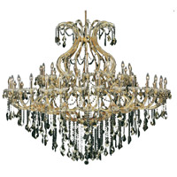 Elegant Lighting Maria Theresa 49 Light Foyer in Gold with Royal Cut Golden Teak Crystal 2800G72G-GT/RC