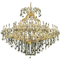Elegant Lighting Maria Theresa 49 Light Foyer in Gold with Elegant Cut Clear Crystal 2800G72G/EC