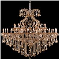 Elegant Lighting 2800G72GT-GT/RC Maria Theresa 49 Light 72 inch Golden Teak Foyer Ceiling Light in Royal Cut
