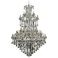 Elegant Lighting Maria Theresa 85 Light Foyer in Chrome with Royal Cut Golden Teak Crystal 2800G96C-GT/RC