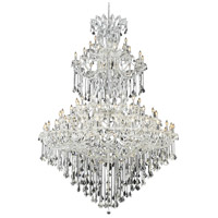 Elegant Lighting Maria Theresa 85 Light Foyer in Chrome with Elegant Cut Clear Crystal 2800G96C/EC