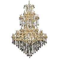 Elegant Lighting Maria Theresa 85 Light Foyer in Gold with Royal Cut Golden Teak Crystal 2800G96G-GT/RC