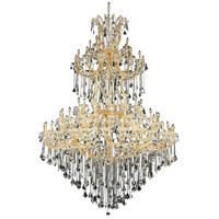 Elegant Lighting 2800G96G/EC Maria Theresa 85 Light 72 inch Gold Foyer Ceiling Light in Clear Elegant Cut