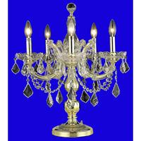 Elegant Lighting Maria Theresa 5 Light Table Lamp in Gold with Elegant Cut Clear Crystal 2800TL19G/EC alternative photo thumbnail