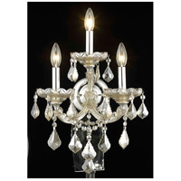 Elegant Lighting Maria Theresa 3 Light Wall Sconce in Golden Teak with Royal Cut Golden Teak Crystal 2800W3GT-GT/RC