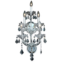 Elegant Lighting Maria Theresa 5 Light Wall Sconce in Chrome with Royal Cut Clear Crystal 2800W5C/RC - Open Box