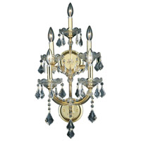 Elegant Lighting Maria Theresa 5 Light Wall Sconce in Gold with Royal Cut Clear Crystal 2800W5G/RC - Open Box
