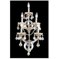 Elegant Lighting 2800W5GT-GT/RC Maria Theresa 5 Light 12 inch Golden Teak Wall Sconce Wall Light in Royal Cut