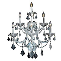 Elegant Lighting Maria Theresa 7 Light Wall Sconce in Chrome with Spectra Swarovski Clear Crystal 2800W7C/SA alternative photo thumbnail