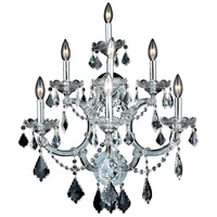 Elegant Lighting Maria Theresa 7 Light Wall Sconce in Chrome with Elegant Cut Clear Crystal 2800W7C/EC