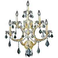 Elegant Lighting Maria Theresa 7 Light Wall Sconce in Gold with Royal Cut Clear Crystal 2800W7G/RC - Open Box
