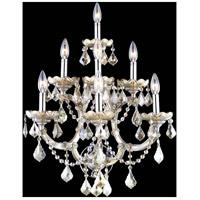 Elegant Lighting 2800W7GT-GT/RC Maria Theresa 7 Light 22 inch Golden Teak Wall Sconce Wall Light in Royal Cut