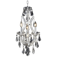 Elegant Lighting Maria Theresa 4 Light Pendant in Chrome with Royal Cut Clear Crystal 2801D12C/RC